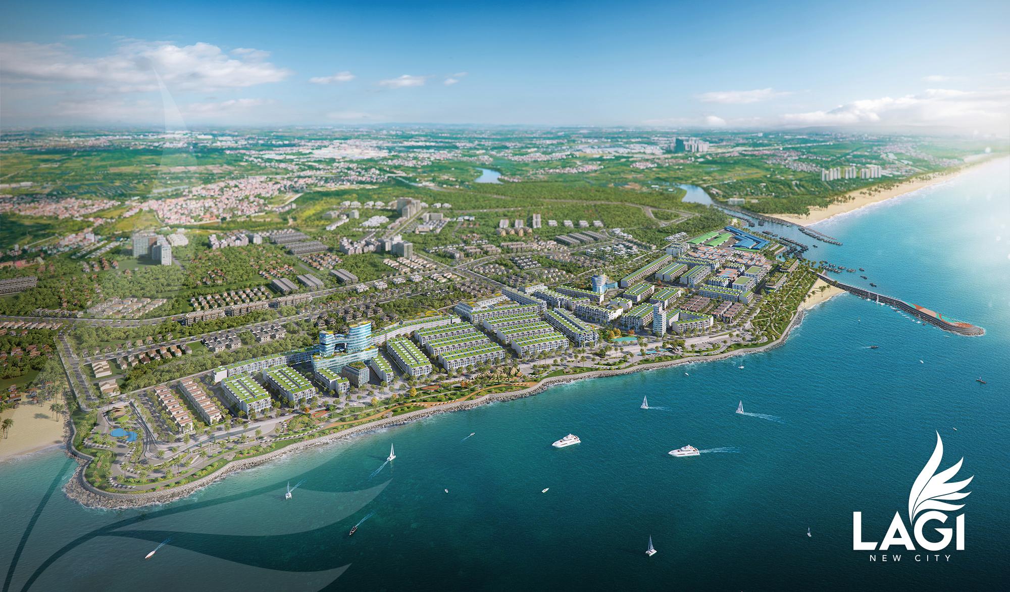 Khu đô thị biển Lagi New City, thị xã Lagi, Bình Thuận.